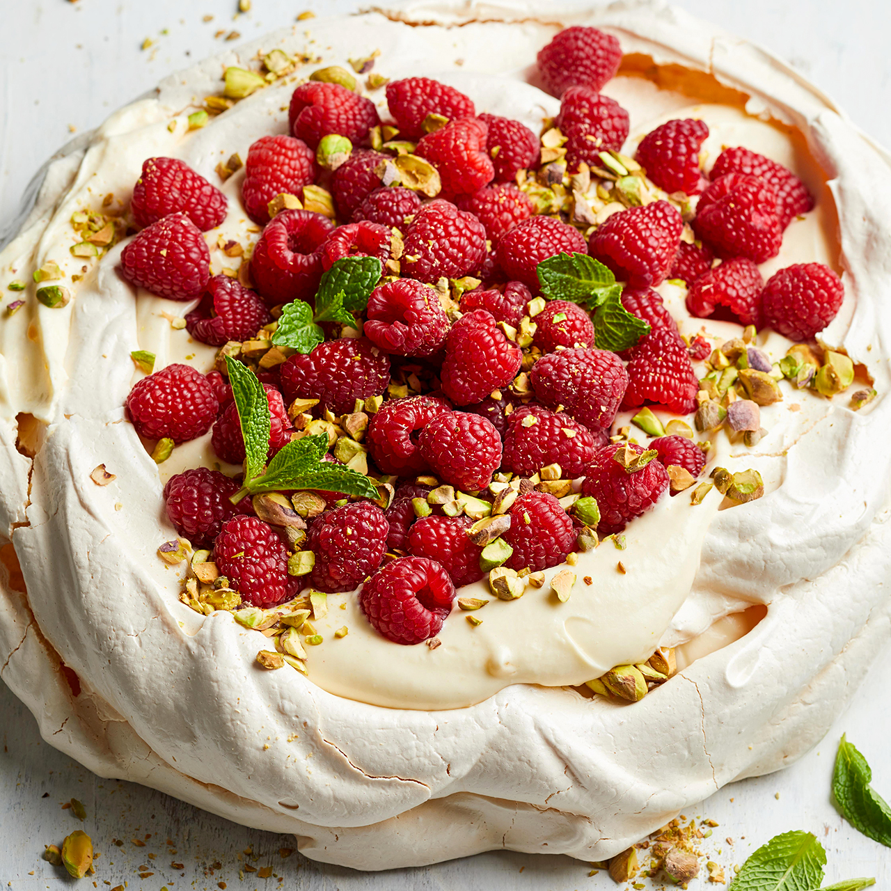 Lemon-Cream Pavlova with Berries