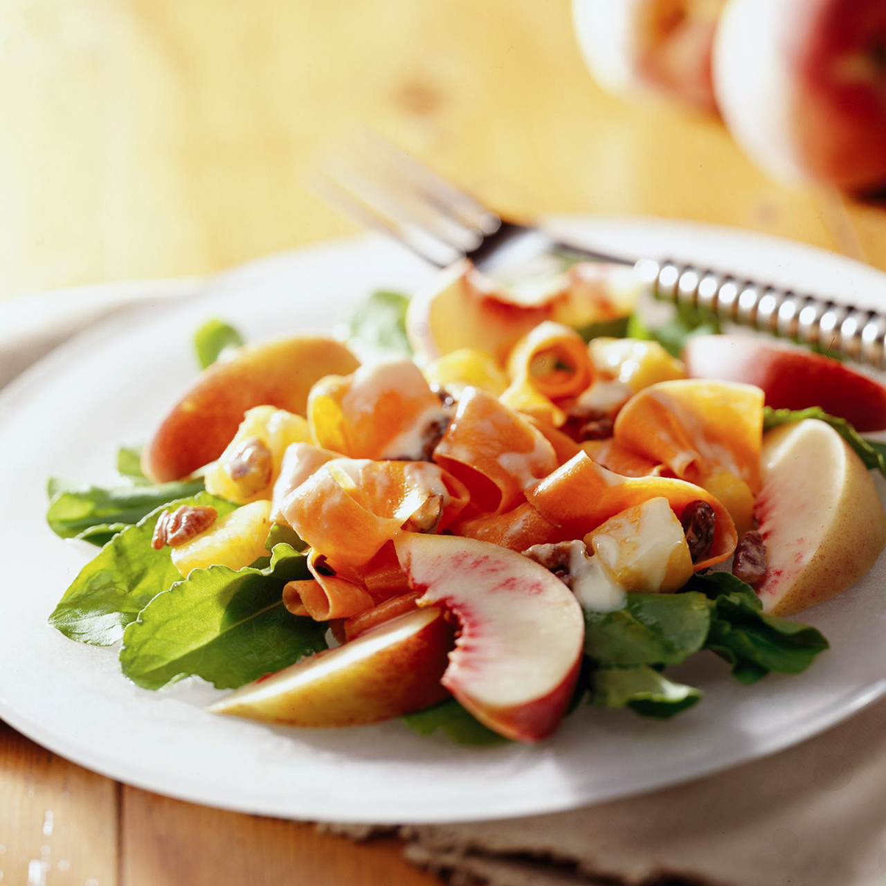 Carrot, Fruit, and Spinach Salad