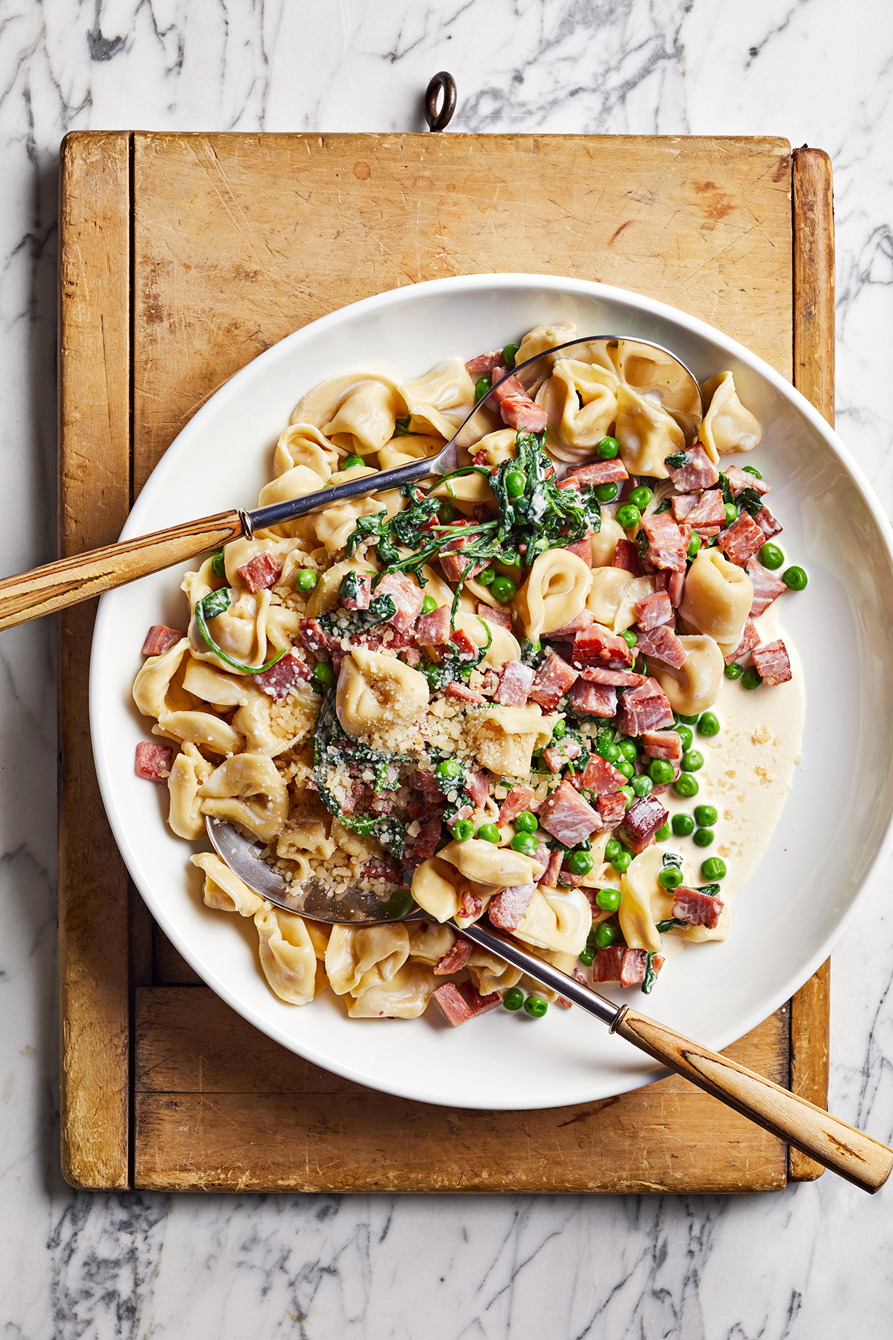 Ham and Pea Tortellini