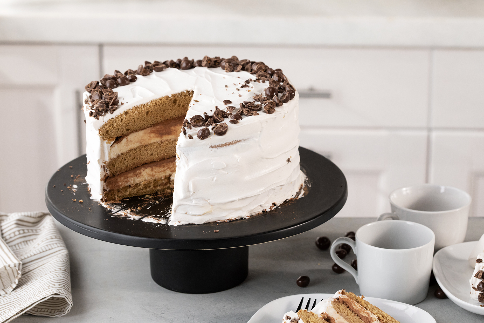 Tiramisu Ice Cream Cake with Mascarpone Ice Cream