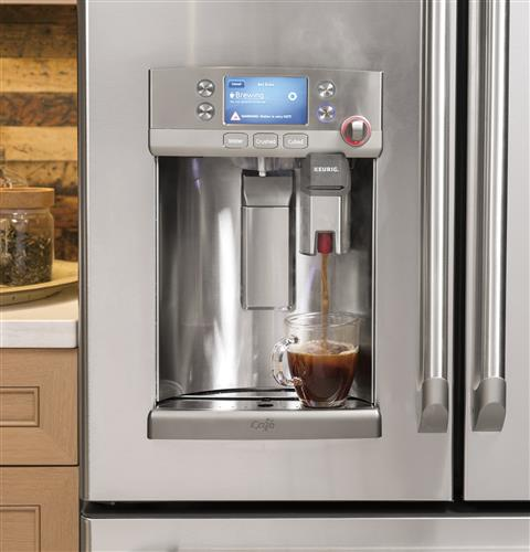 This Smart Refrigerator Has a Built-In Keurig to Fulfill All Your Coffee Needs