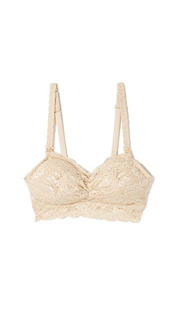 light yellow bra for moms with lace