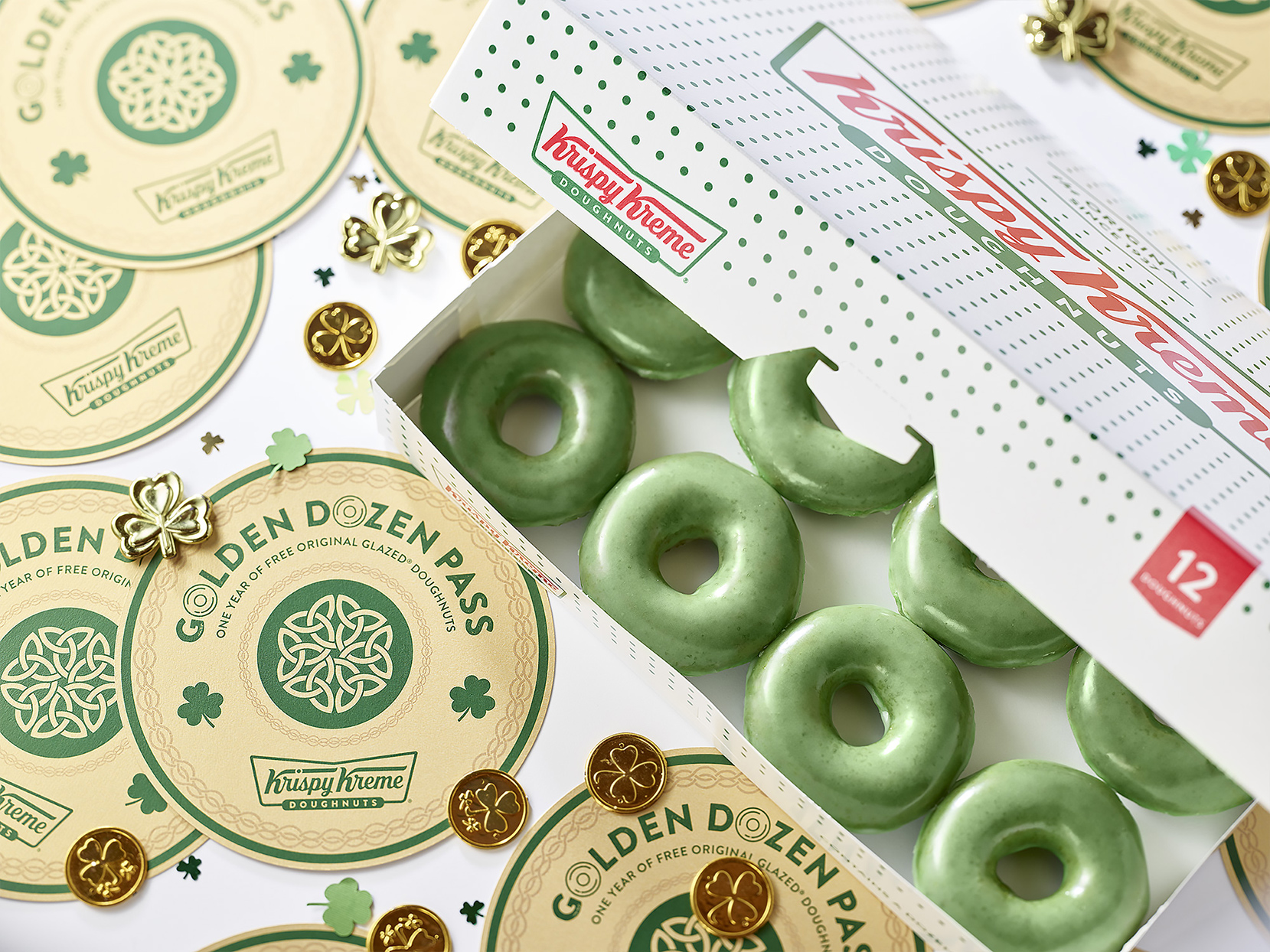 Krispy Kreme Is Turning Their Donuts Green to Celebrate St. Patrick's Day