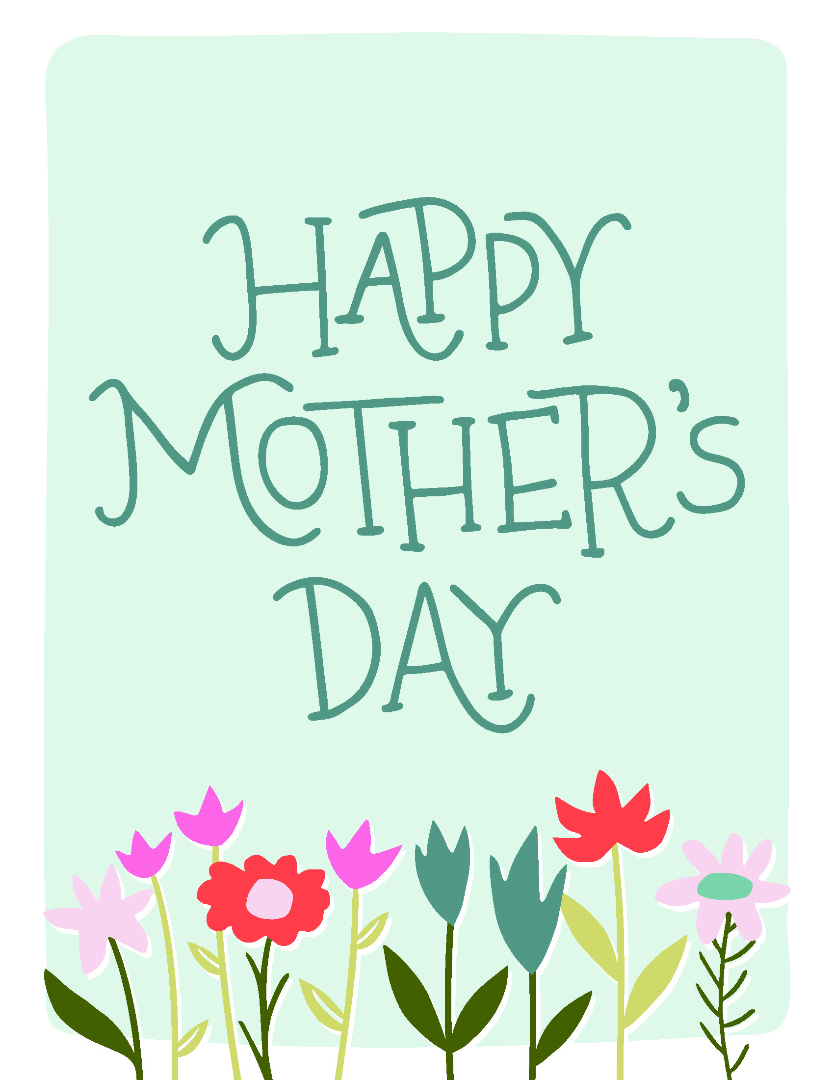 picture relating to Happy Mothers Day Printable Card titled Lovely Moms Working day Card Printables Much better Residences Gardens