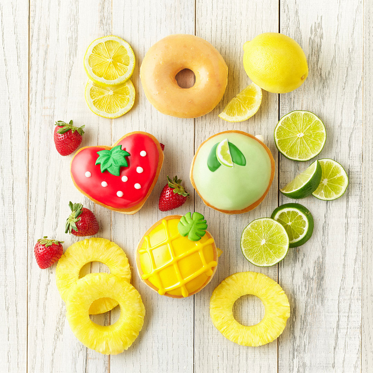 Krispy Kreme's Adorable New Fruit Donuts Are Ready to Welcome Summer