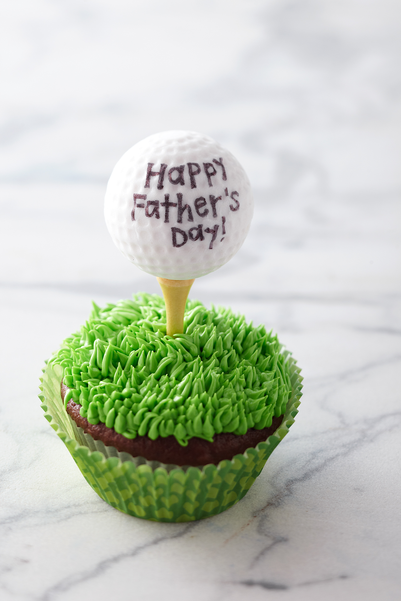 Father's Day Golf Cupcake