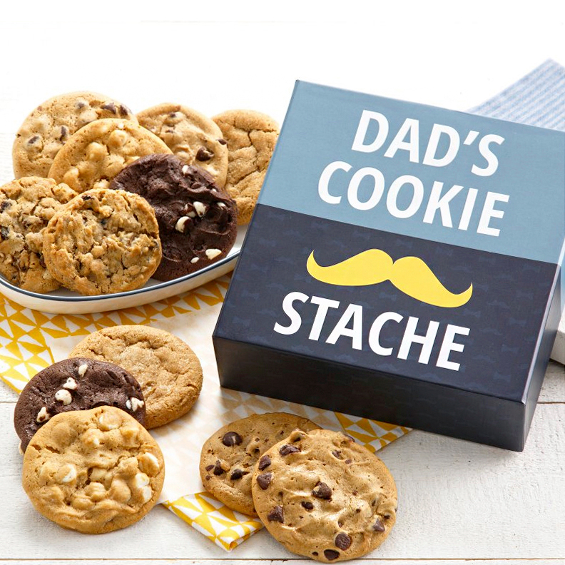dad's cookie stache gift box