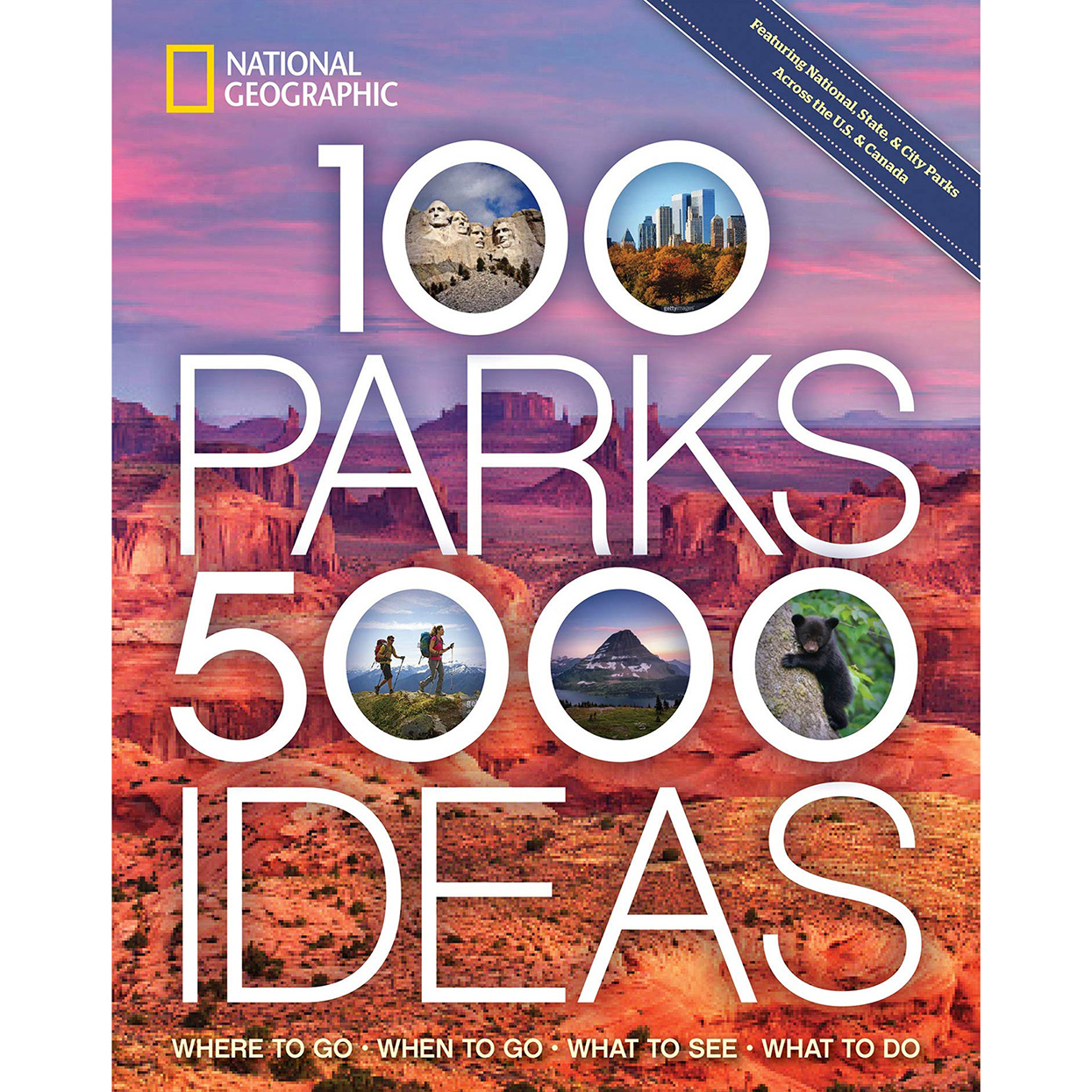 nat geo 100 parks book cover