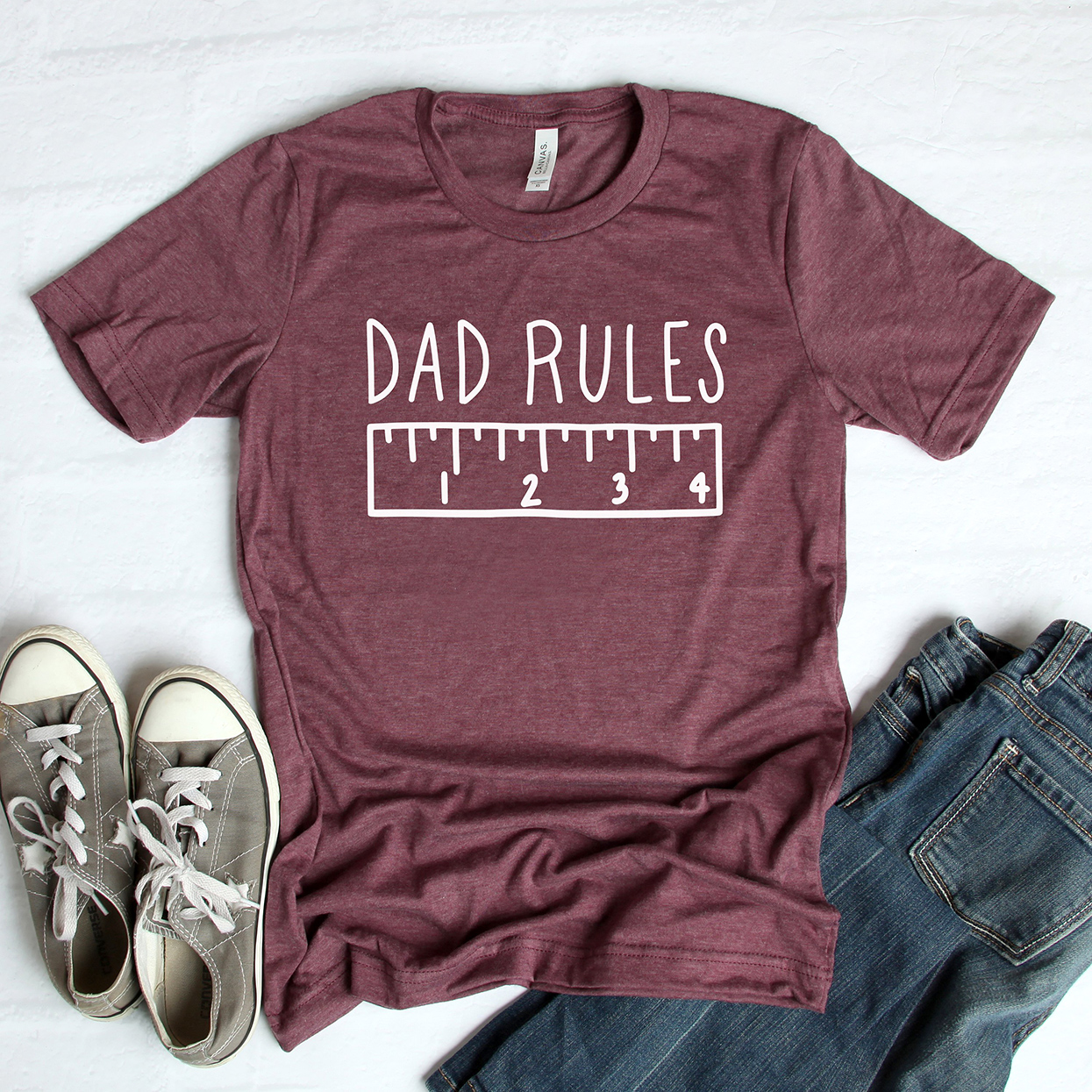 maroon dad rules t-shirt