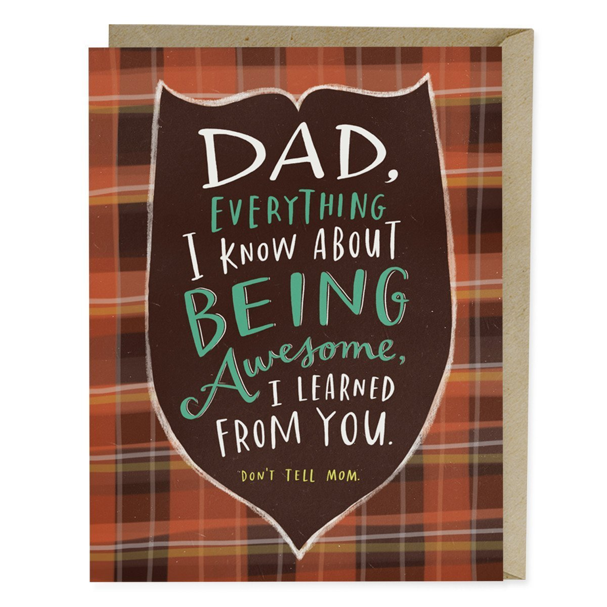 being awesome fathers day card