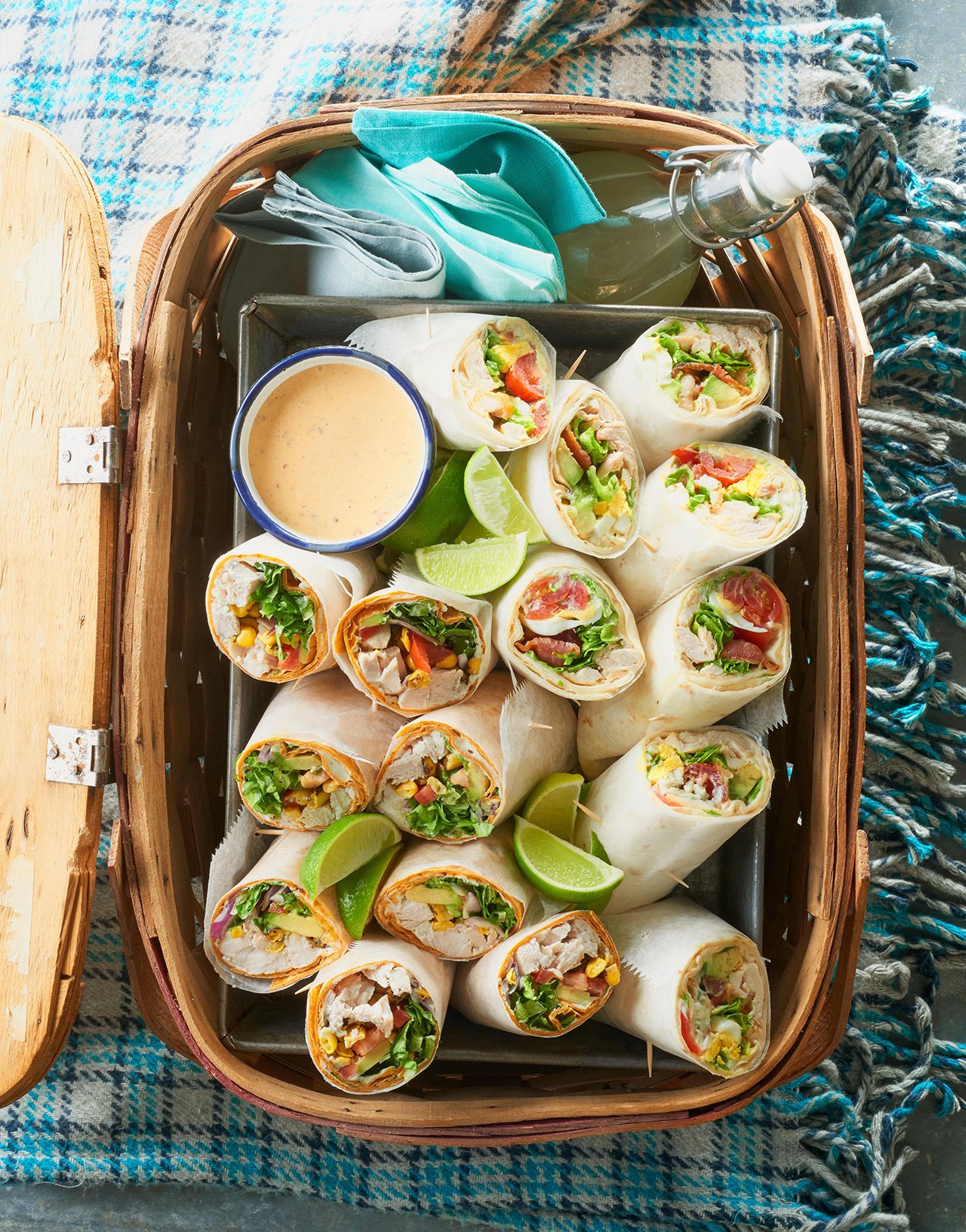 Santa Fe Turkey Wraps