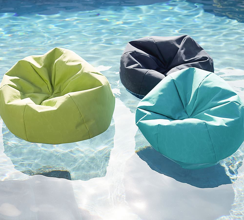 pottery barn bean bag pool floats