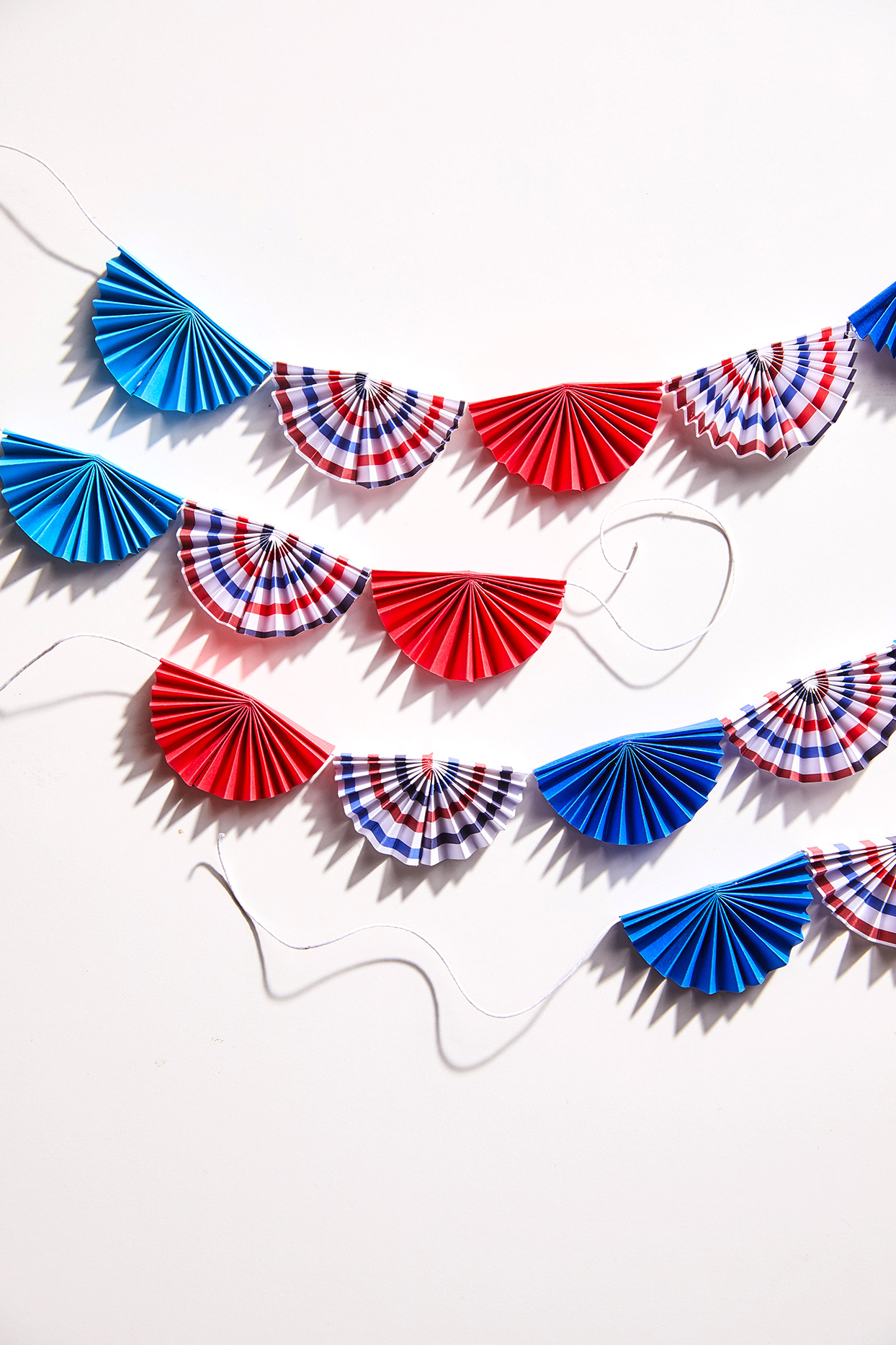 patriotic fans string decorations