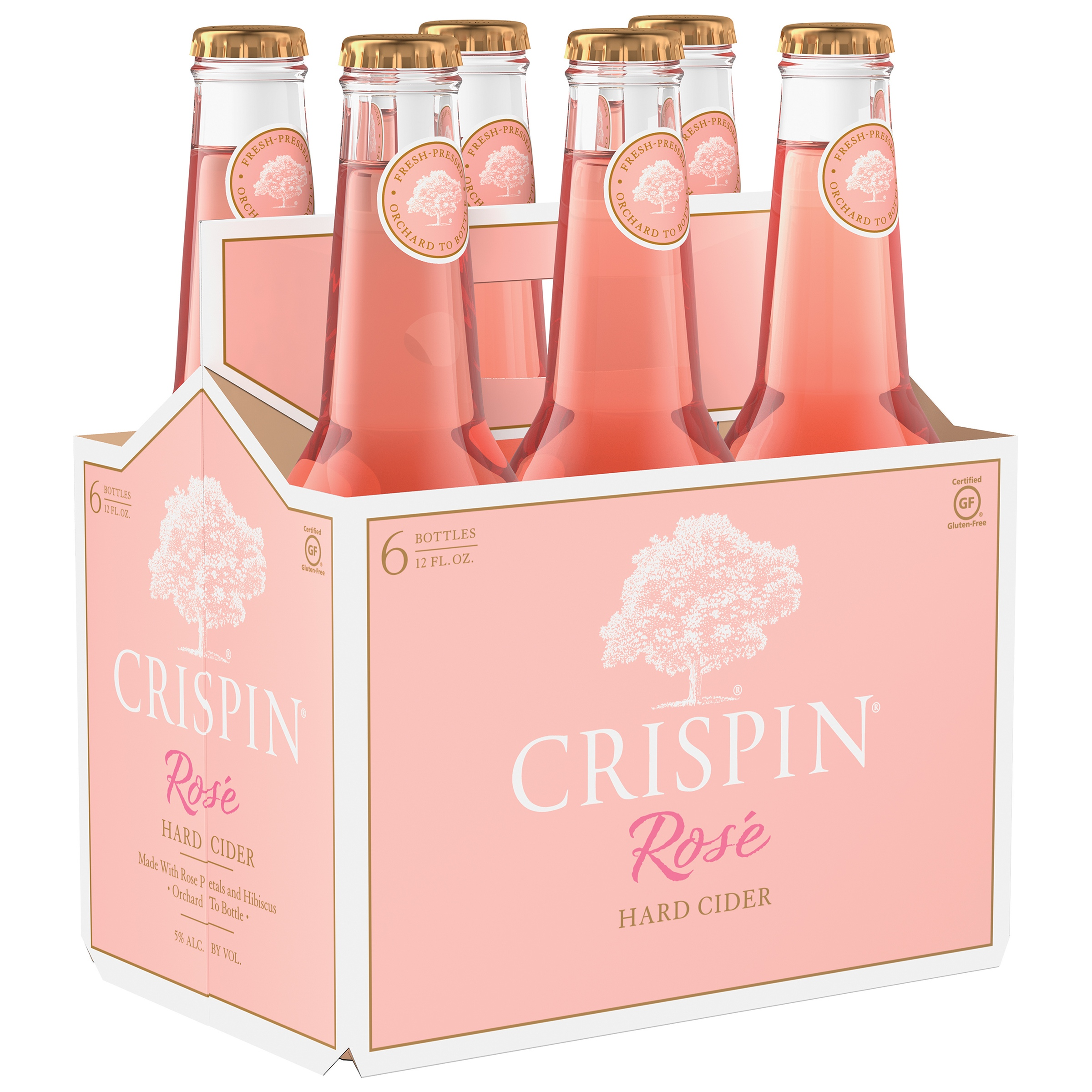 six pack of pink bottles