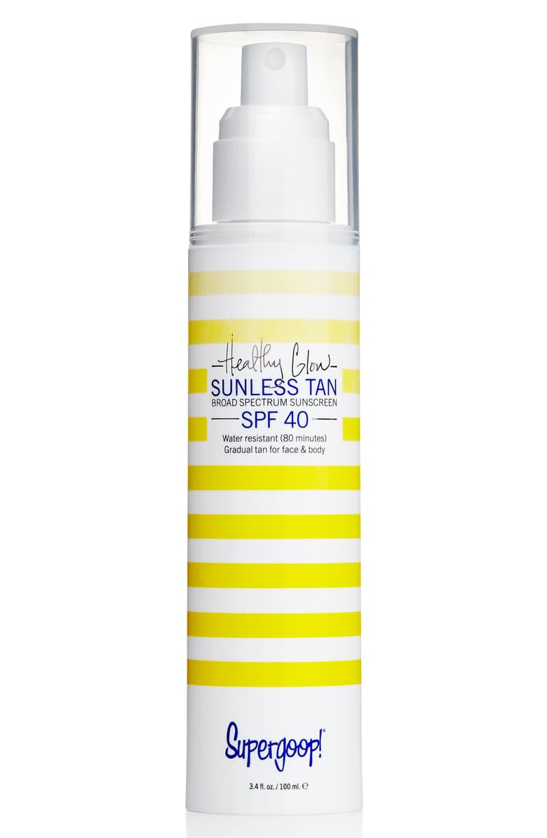 supergoop sunless tan spray with SPF