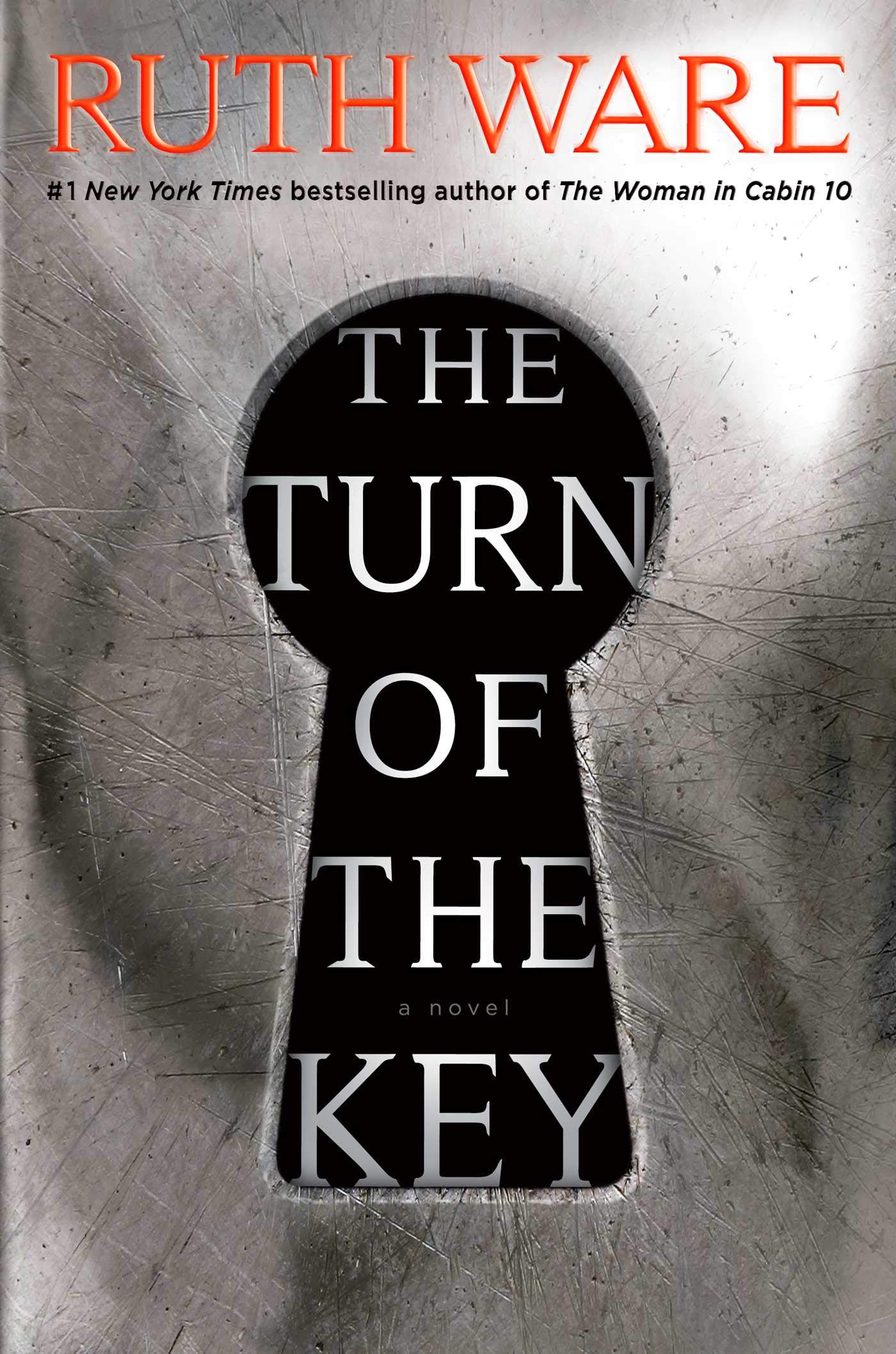 Black and white book cover with image of a keyhole