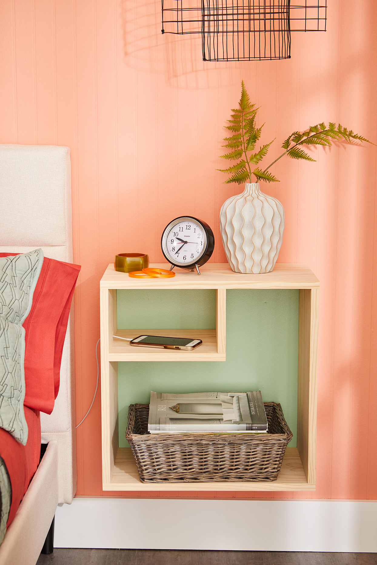 How to Build a Wall-Mounted Nightstand