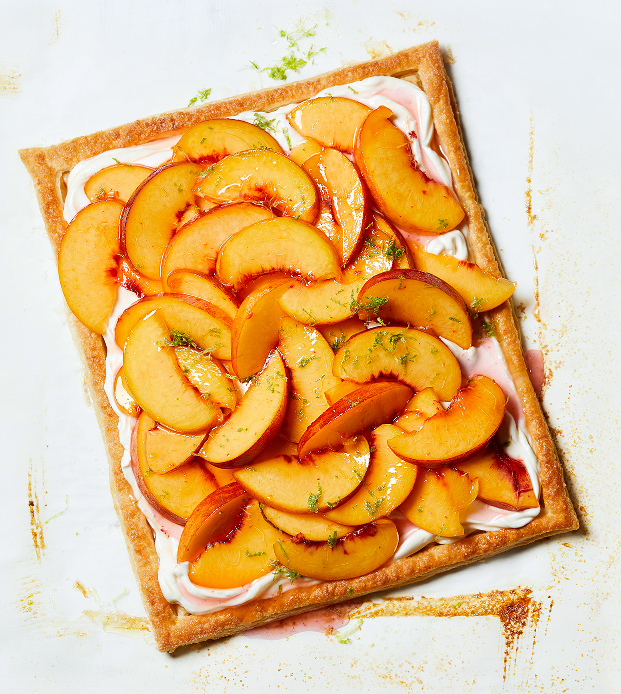 Zesty Peaches and Cream Tart