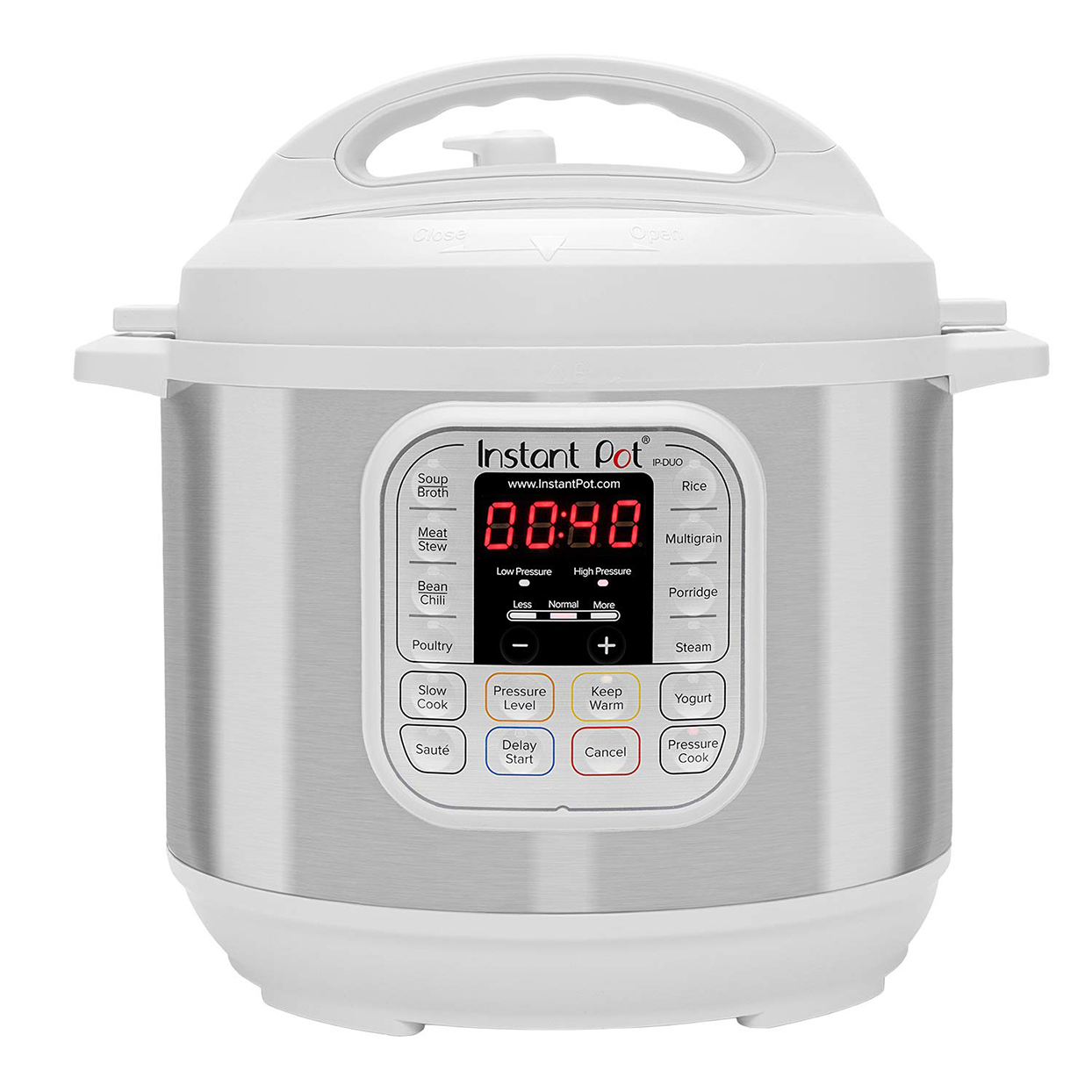 White Instant Pot on white background
