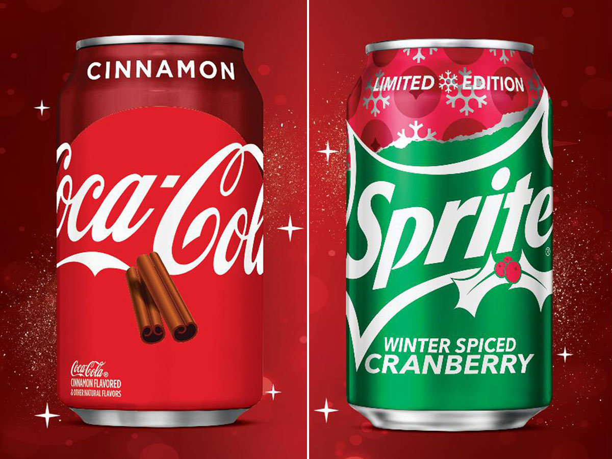 holiday flavors of coke and sprite
