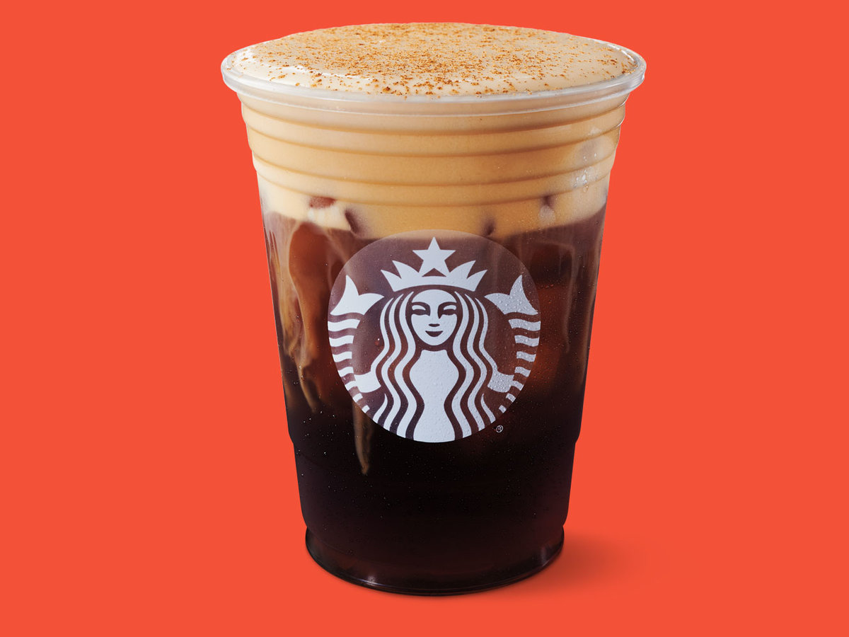 iced pumpkin spice drink from starbucks