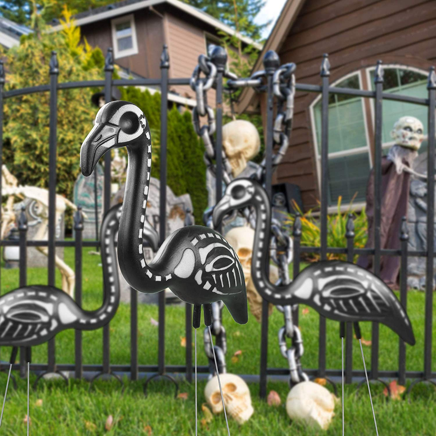 Zombie Lawn Flamingos Will Make Your Front Yard So Spooky This Halloween