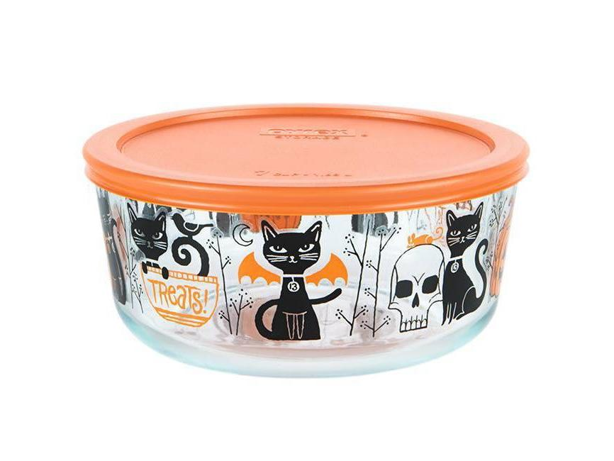 black cat halloween pyrex