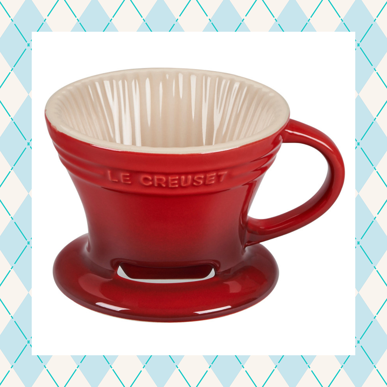 le creuset pour over coffee cone