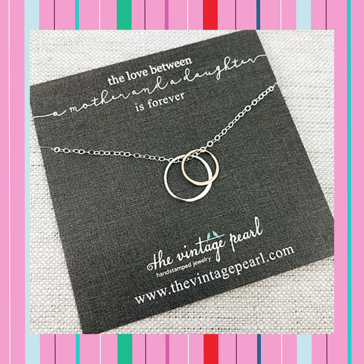 the vintage pearl mother daughter necklace