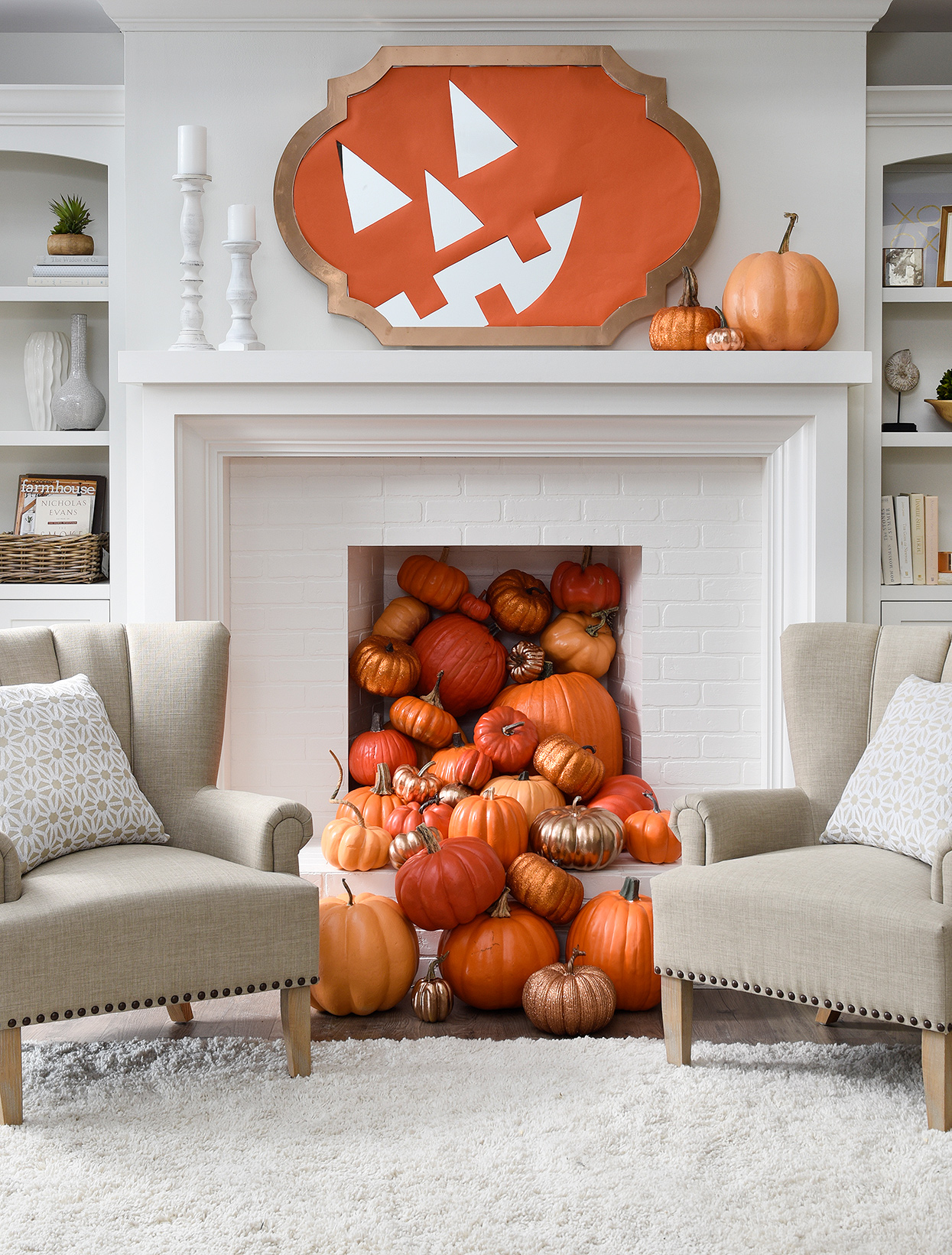 29 Frighteningly Easy Halloween Mantel Ideas Better Homes Gardens
