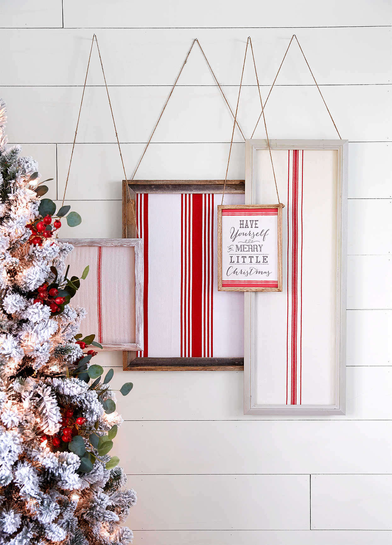 Have a Merry Little Christmas overlapping hanging pictures