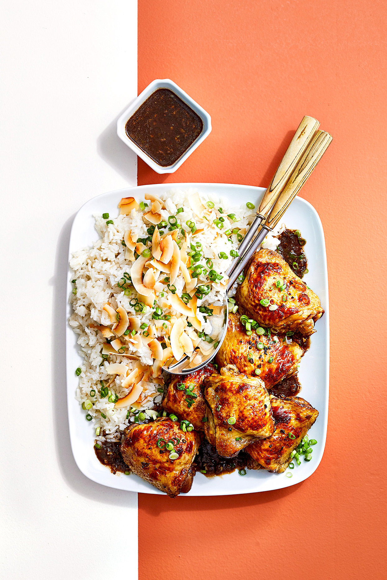 Chicken Adobo with Coconut Rice