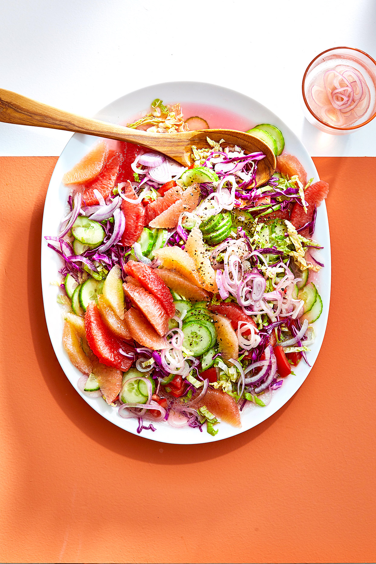 Citrus-Cucumber Slaw with Pickled Shallots