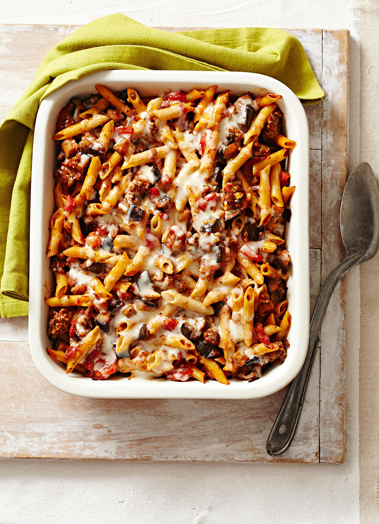 Eggplant Beef Pasta Bake Better Homes Gardens