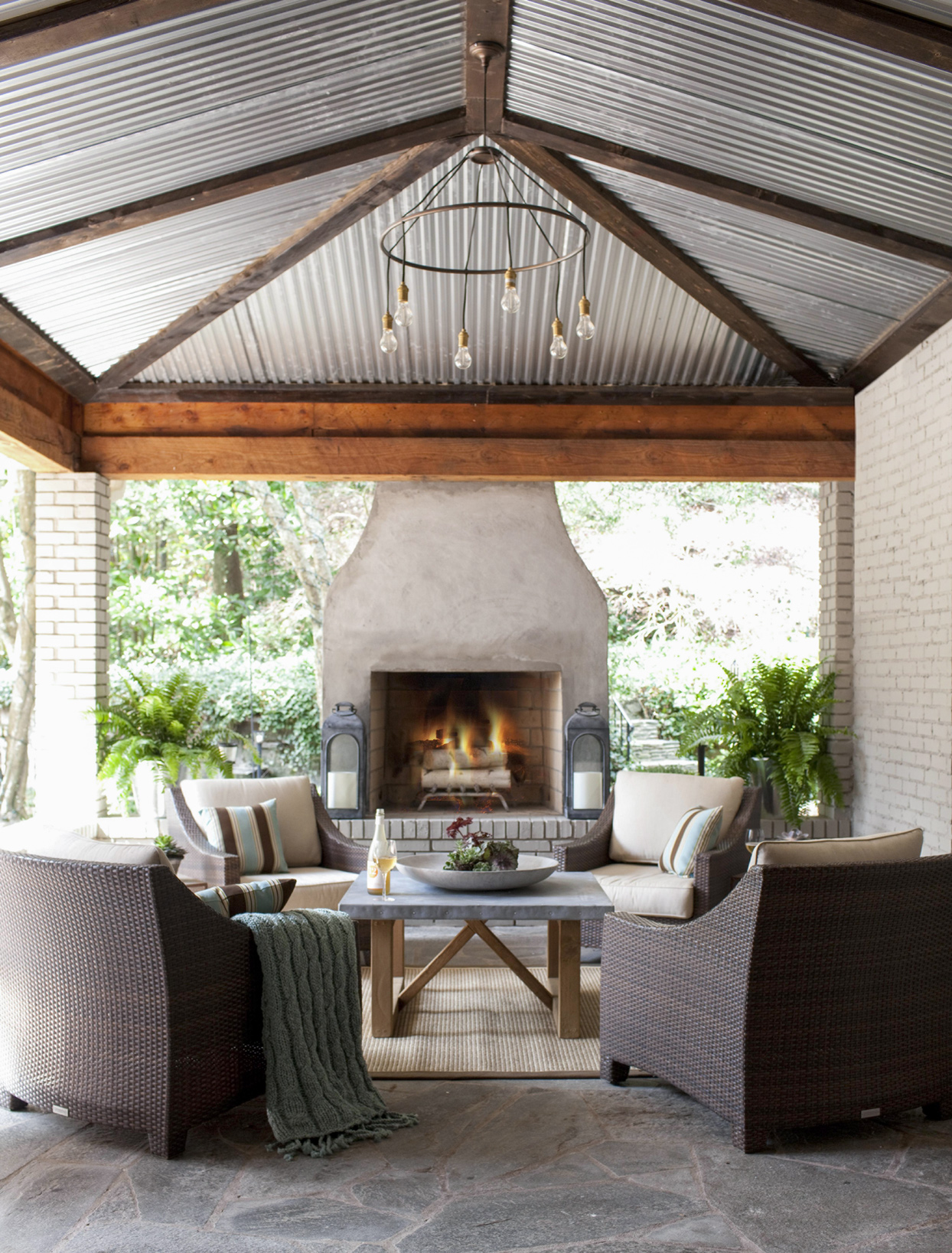 23 Cozy Outdoor Fireplace Ideas For The Most Inviting Backyard Better Homes Gardens
