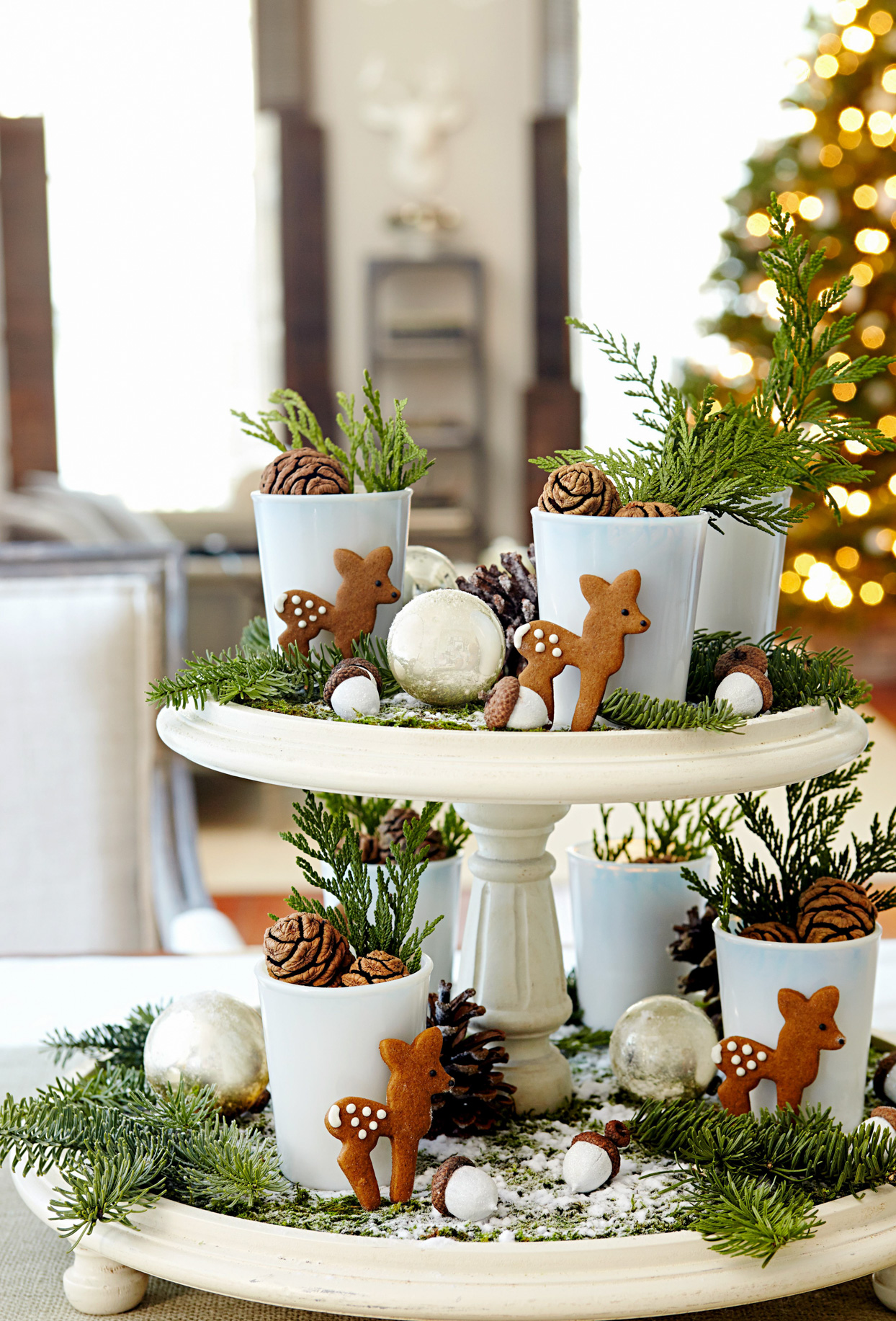 Image of: Easy To Make Christmas Centerpieces Better Homes Gardens
