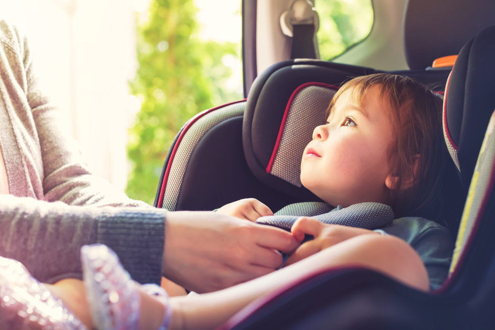 Toddler Buckled in Car Seat