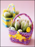 Making Mini Easter Baskets