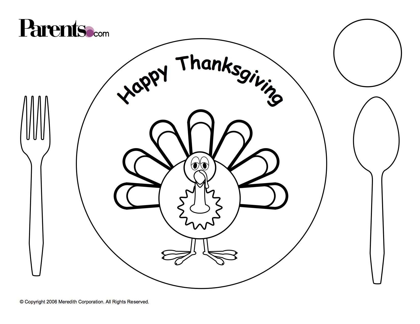 Thanksgiving Printables: Place Cards, Paper Crafts and More