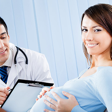pregnant woman at the doctors