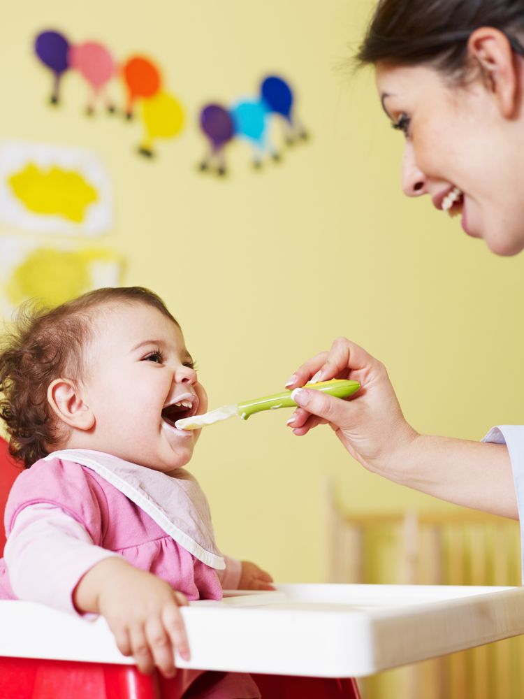 Quizler Solid Foods Almost Result Happy Baby Being Fed