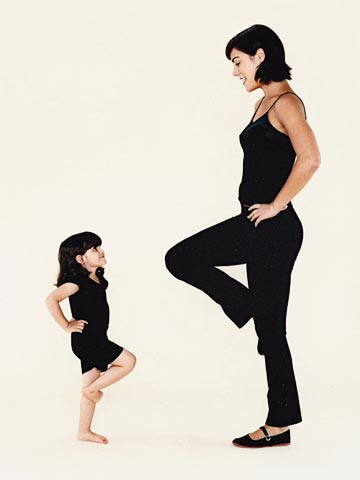 The whole family can try these exercises.
