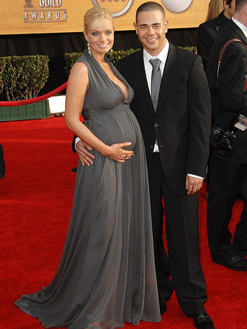 pregnant Jaime Pressly and Eric Cubiche