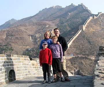 Higham family at the Great Wall