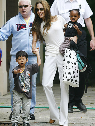 Angelina Jolie & her children