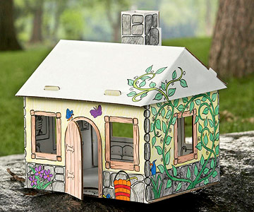 paint-your-own dollhouse