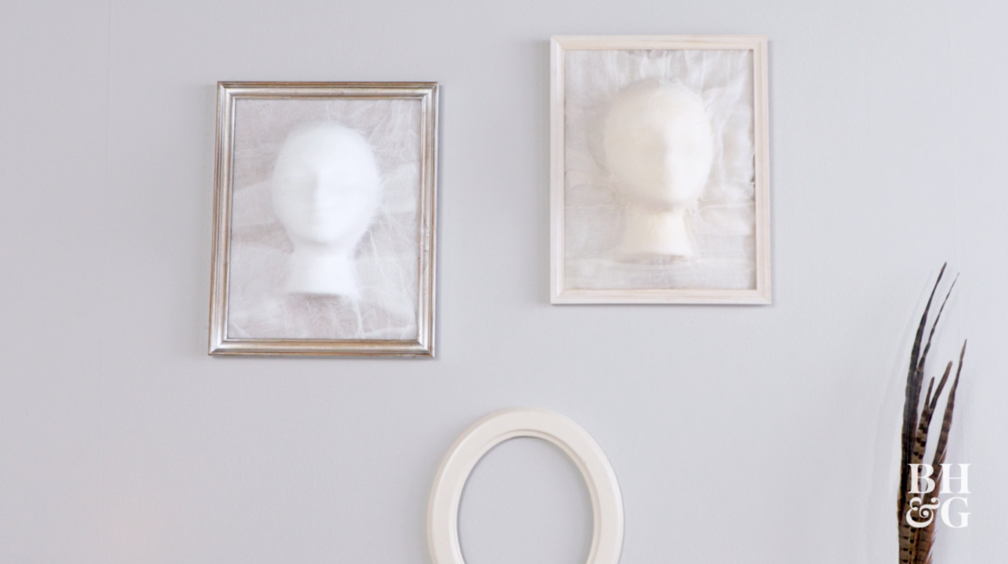 DIY Ghost Face Frames