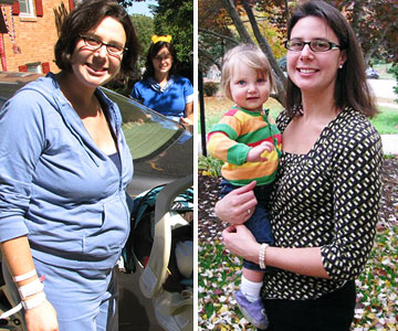 Ann Before & After Losing the Baby Weight