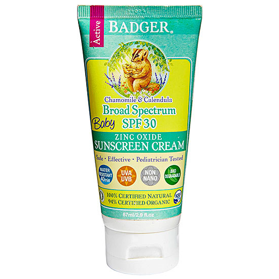 Badger Balm baby sunscreen