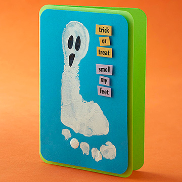 Foot Ghost Card